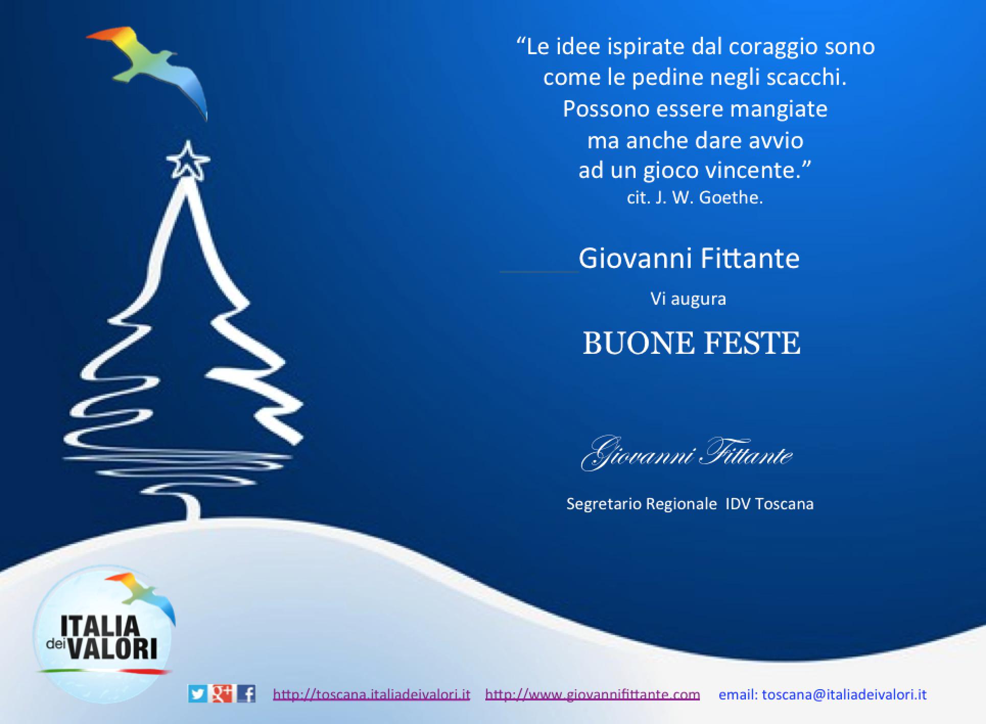 Auguri Affettuosi Di Buon Natale.Candidatura A Segreteria Regionale Toscana Idv Di Giovanni